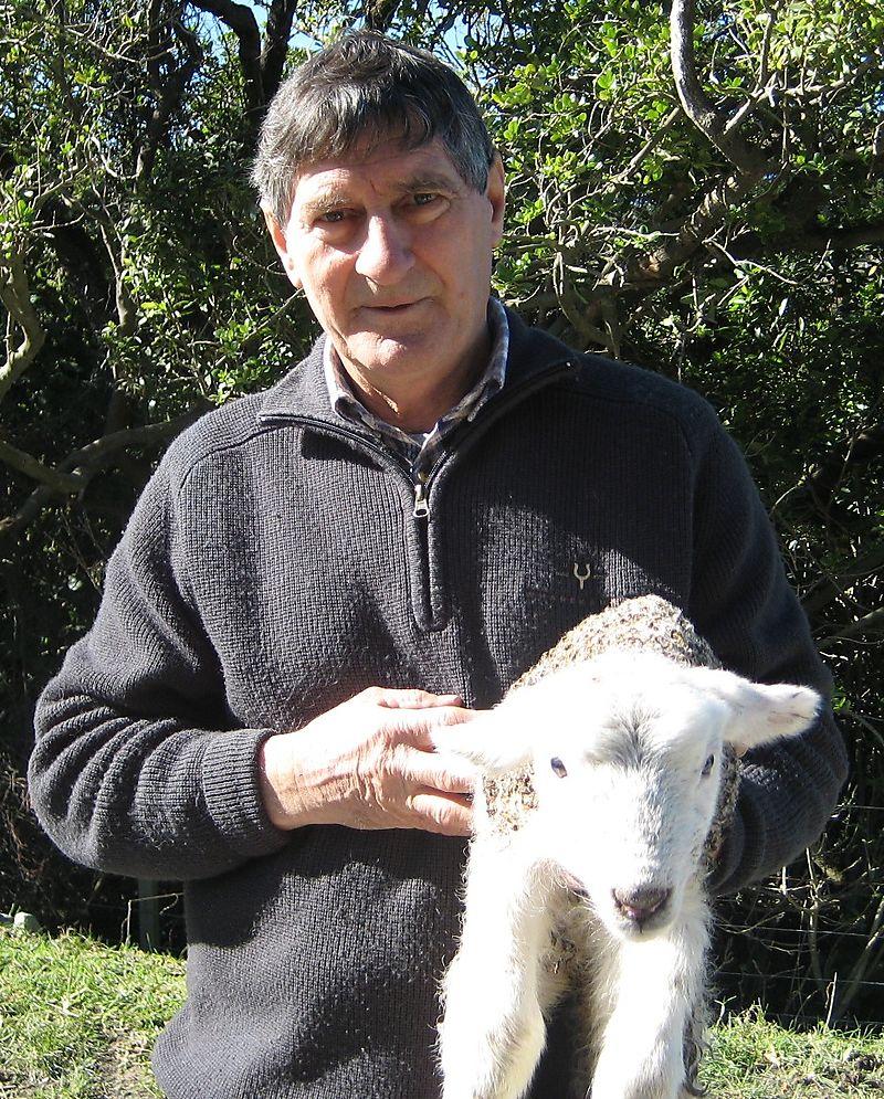 Joe and a new lamb